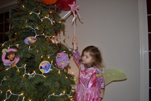 I danced around my birthday tree, so happy to be three!
