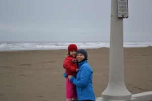 "It wasn't exactly ""beach"" weather but the seaside walk was beautiful."