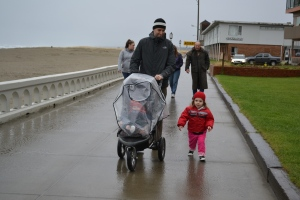 We wrapped up in our beanies and as many layers as we could fit under our jackets for a morning walk along the promenade.