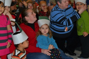 Although I had to swap my princess crown for my elf hat for the performance.