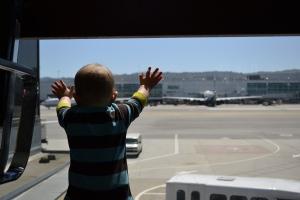 Rafa enjoyed watching the planes.