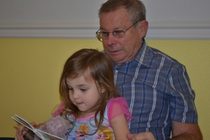 And after dinner, I read Grandpa John a story.  He liked that too.