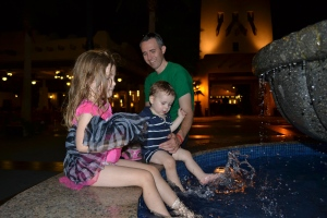 You know it's a fun night when everyone ends up in the fountain!