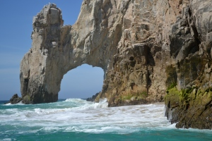But there was so much to see!  We went down to the arch at Land's End where the Gulf meets the Pacific Ocean.
