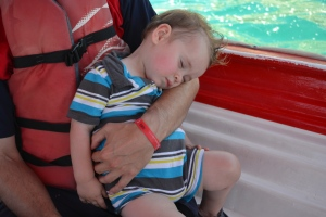 The rocking of the boat and the sea breeze was perfect for an afternoon siesta.