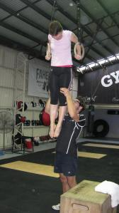 An urban gymnastics class at Gym Cartel in Newstead.