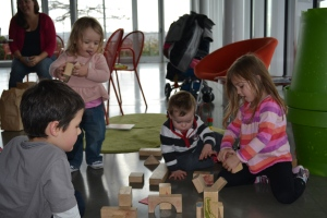 The Olympic Sculpture Park was a great spot for lunch and we found toys inside to play with.
