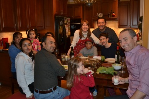 We then had a Mexican Christmas dinner at our friends house, posole and tortillas.  Yum!