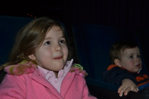 Papi's work takes us to the movies every year, popcorn and all!  This year's movie was Frozen and we all loved it.
