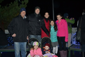 After hot soup at a friend's house we all went out to Zoo lights.