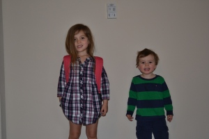 We were ready for school on time.  We loaded our school bags, lunches and ourselves into the car.  Which didn't start.