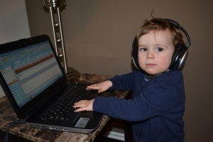 The rest of the day we were couped upside.  We were a huge help to Mum with her transcribing.