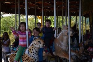 The carousel was designed around the zoo residents.