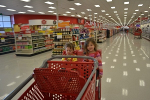 When I say it was a Super target, I mean SUPER!  You can buy everything here.