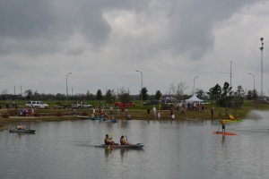 Lots of people like to kayak on our lakes so a kayak company brought a huge range down to the main lake to take for a spin.