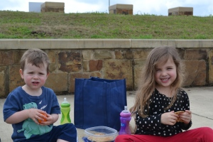 We had a picnic by the lake and watched all the fun.