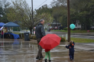 A little bit of rain wasn't going to keep us away from the local St Pat's celebrations.