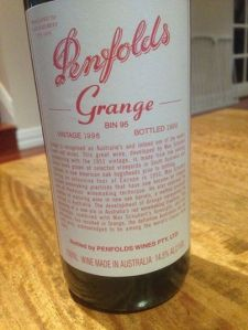 Later that evening Papi, Grandpa John and a few other boys had a party which included consuming an $800 bottle of Grange.