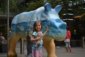 We found our first rhinocerous on the corner of Pitt St and Market