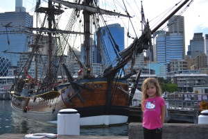 We checked out the heritage ships.  I was sure a pirate once owned this one.