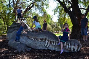 The giant croc was a favourite.  Snap snap.