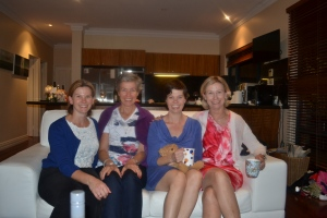 Aunty VJ, Deb and Rachel (Great Aunties) and Mum.