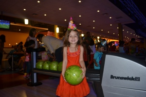My friends had their birthday party at a bowling alley today.