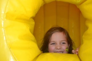 Ana in bounce house 1