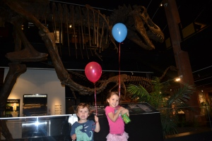 Ana was invited to a birthday party at the Museum of Natural Sciences and because Papi was away I got to tag along.