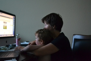 I love helping Mum do computer stuff.