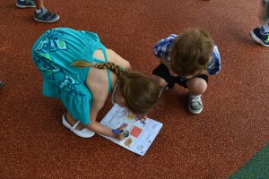 We started the festivities with a treasure hunt around the kids zoo.
