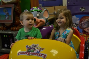 If you don't know, Chuck E Cheese's is an indoor arcade and fun park.