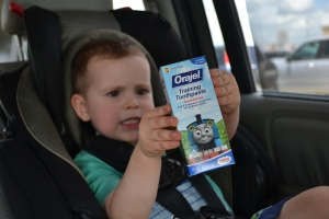 I got Thomas toothpaste.  Choo choo!