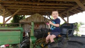 We rode tractors.