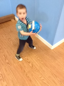But I don't stay still enough for a good photo with the ball.