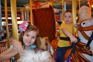 A carousel ride.