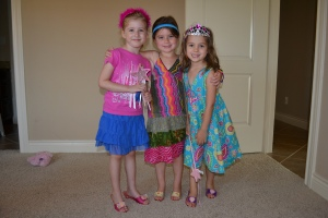 I had some princess friends over to play today.