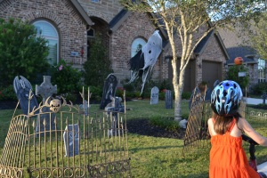 Part one of our halloween houses tour we did by bike.