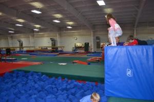 We did lots of Ninja Turtle / gymnasticky things like jumping off towers...