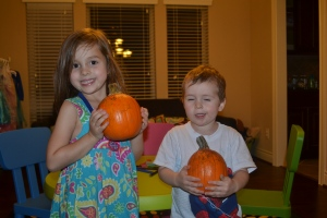 All finished!!  Now our princess and big pumpkin are sitting by the front door.