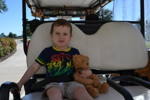 After we checked out the A,B,Cs in the parking lot we got a ride to the front door in a golf cart!
