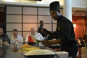 'Bruce Lee' our chef made food fly and plates twirl.