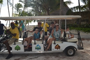 The eco park tour is supposed to be done by segway, but we all went by golf cart since we're too little for that.