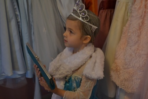And could choose whatever accessories we wanted from the Princess closet.