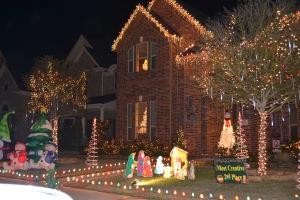 Later, a Christmas lights tour.