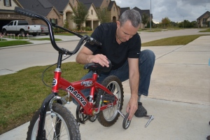 Papi put extra wheels on the BIG bike.