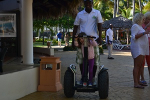 We saw the segway tour guys at breakfast.