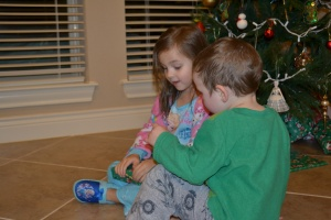 Christmas week is here!  And tonight we were allowed to open a present early.