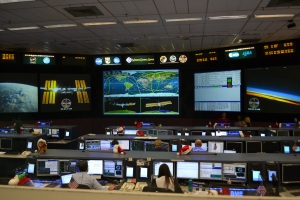 The Mission Control Building was a highlight.  This is where the team are currently controlling the ISS.  That's the Flight Director (the big boss) and the CapCom (communications) in the foreground.