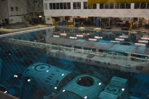 They got to do 'VIP' things such as go to the big pool the contains the International Space Station replica.  The astronauts train for working on the ISS and apart from the drag of the water it's pretty close to how it feels in space.